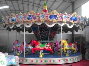 PL16S-Cheap Fiberglass Carousel Rides For Sale In Powerlion